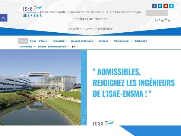 Screenshot of www.ensma.fr