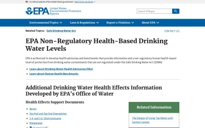 Screenshot of www.epa.gov