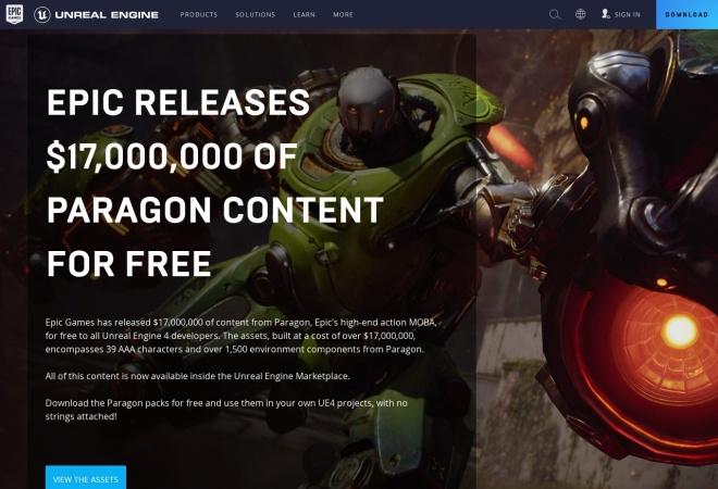 Screenshot of www.epicgames.com