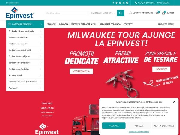 Screenshot of www.epinvest.ro