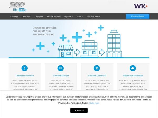 Screenshot of www.erplitefree.com.br