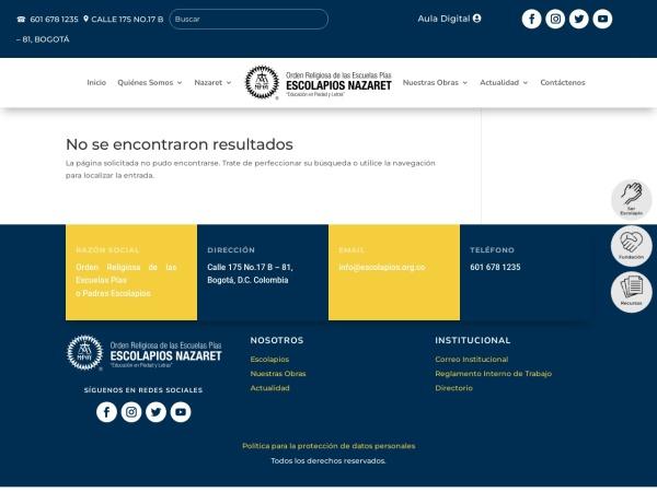 Captura de pantalla de www.escolapios.org.co
