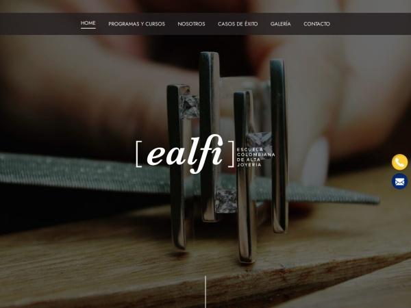 Captura de pantalla de www.escolombianadejoyeria.com