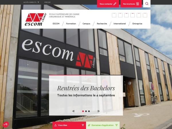 Screenshot of www.escom.fr
