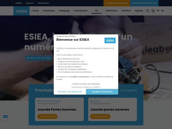 Screenshot of www.esiea.fr