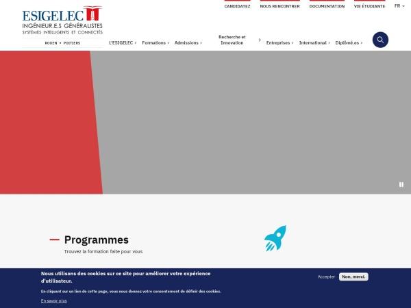 Screenshot of www.esigelec.fr
