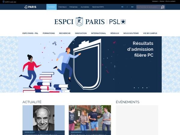 Screenshot of www.espci.fr