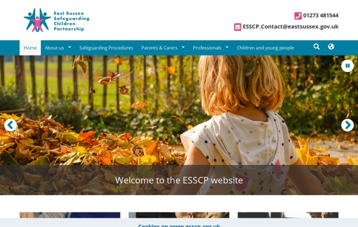 Screenshot of www.esscp.org.uk