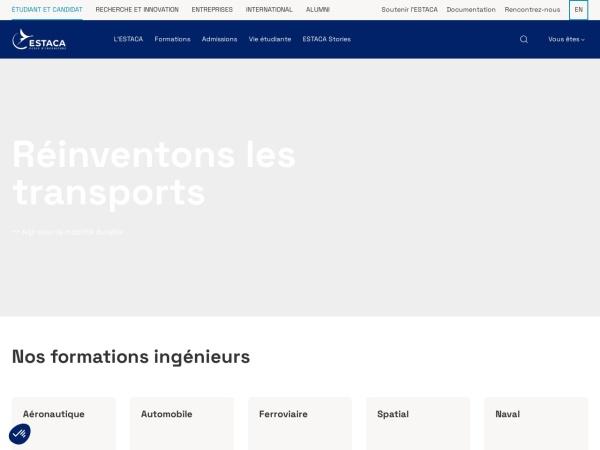 Screenshot of www.estaca.fr