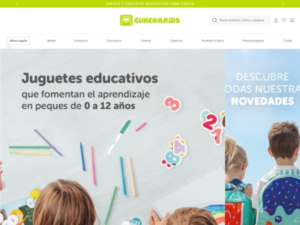 Captura de pantalla de www.eurekakids.es