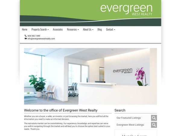 Screenshot of www.evergreenwestrealty.com