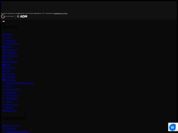 Screenshot of www.evobet.it