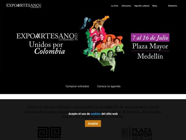 Captura de pantalla de www.expoartesano.com.co