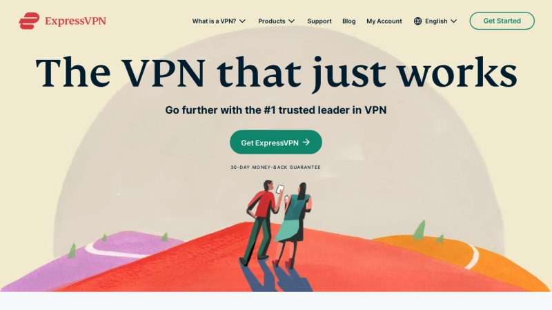 Screenshot of www.expressvpn.com
