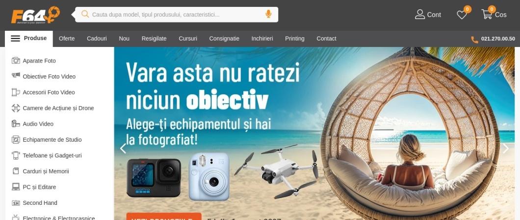 Screenshot of www.f64.ro