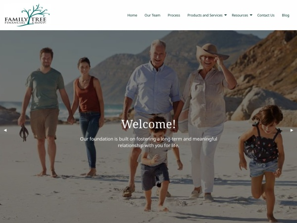 Screenshot of www.familytreefinancial.ca
