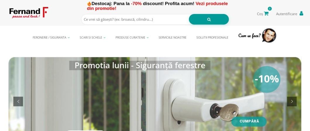 Screenshot of www.fernand.ro