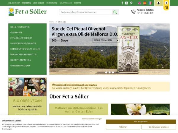Screenshot von www.fetasoller.com