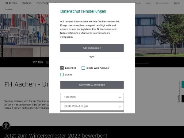 Screenshot of www.fh-aachen.de