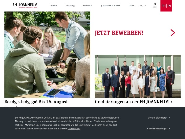 Screenshot of www.fh-joanneum.at