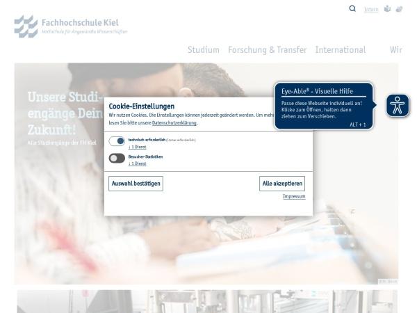 Screenshot of www.fh-kiel.de