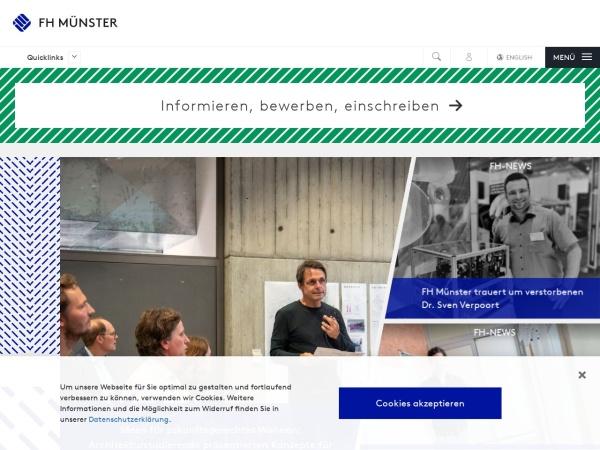 Screenshot of www.fh-muenster.de