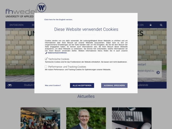 Screenshot of www.fh-wedel.de