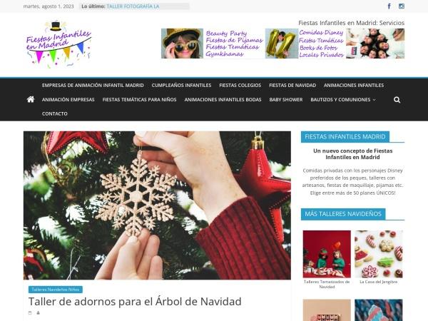 Captura de pantalla de www.fiestasinfantilesenmadrid.es