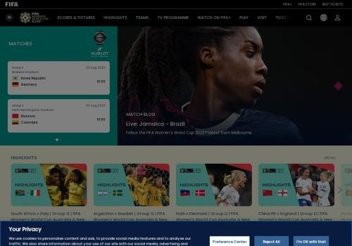 Screenshot of www.fifa.com