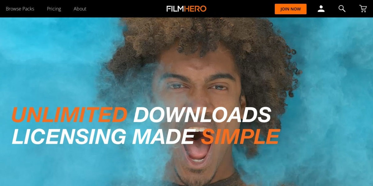 Screenshot of www.filmhero.com