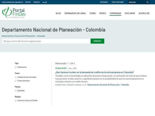 Captura de pantalla de www.findevgateway.org