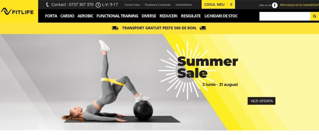 Screenshot of www.fitlife.ro