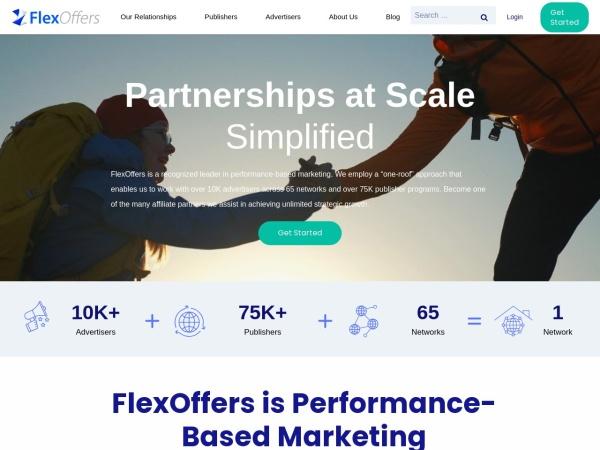 Screenshot of www.flexoffers.com