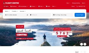 Flight Centreウェブサイトサムネイル