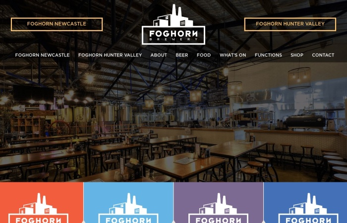 Screenshot of www.foghornbrewhouse.com.au