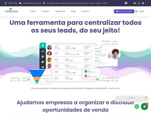 Screenshot of www.followize.com.br