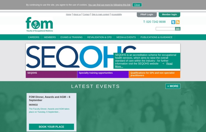 Screenshot of www.fom.ac.uk