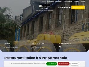 Commandez de délicieuses pizzas et spécialités italiennes au restaurant Le Four à Bois