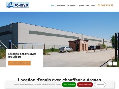 FOVET JEAN PIERRE, entreprise de location d'engins pour les travaux de chantier à Arques
