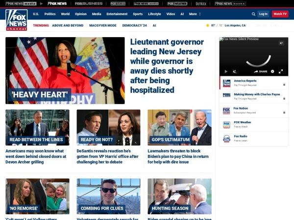 Screenshot of www.foxnews.com