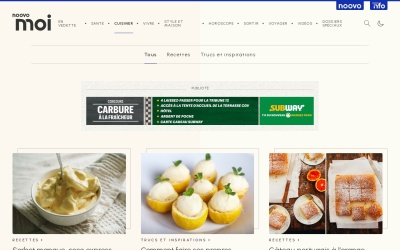 Screenshot of www.fraichementpresse.ca