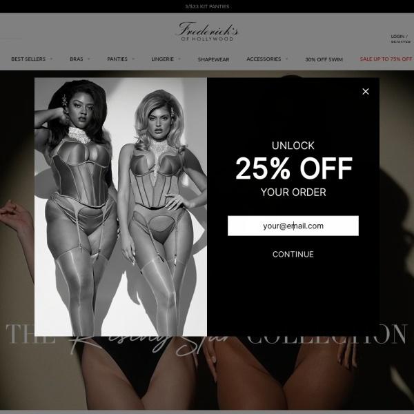 Screenshot of www.fredericks.com