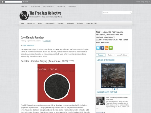 Screenshot of www.freejazzblog.org