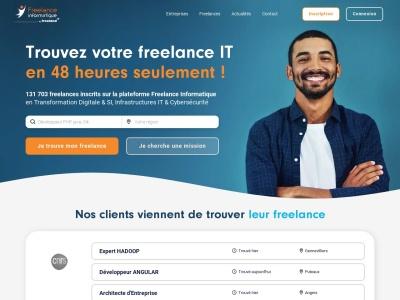Freelance Informatique : la plateforme des freelances du Digital & IT. Missions pour consultants indépendants ou en portage.