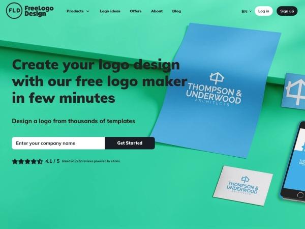 Screenshot of www.freelogodesign.org