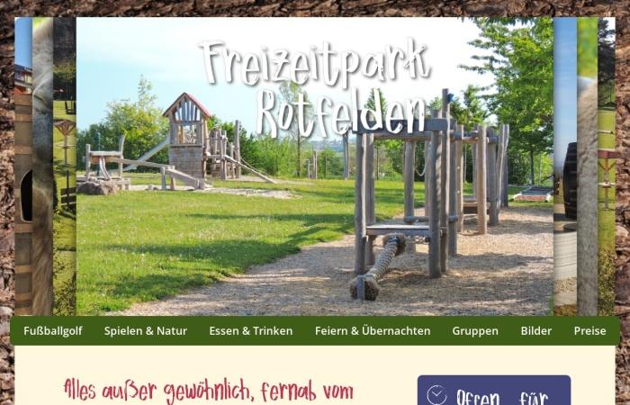 Screenshot von www.freizeitpark-rotfelden.de