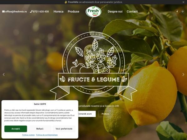 Screenshot of www.freshmix.ro