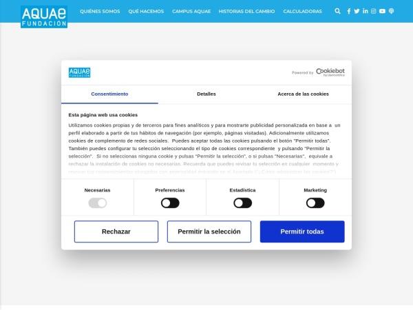 Captura de pantalla de www.fundacionaquae.org
