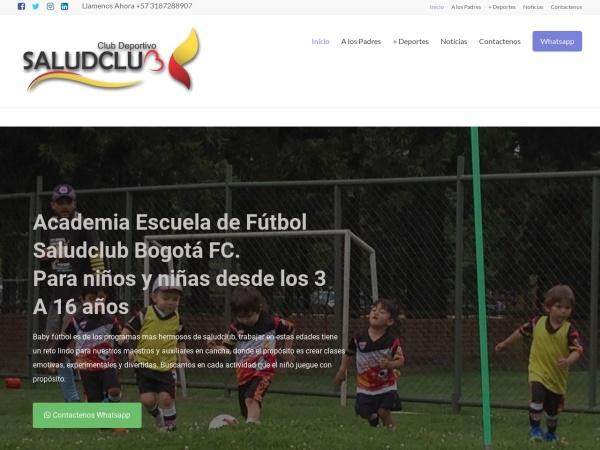 Captura de pantalla de www.futbolbogota.com