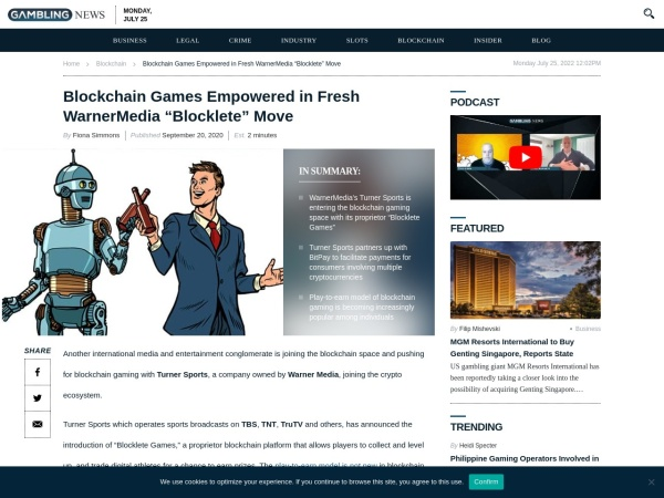 Screenshot of www.gamblingnews.com
